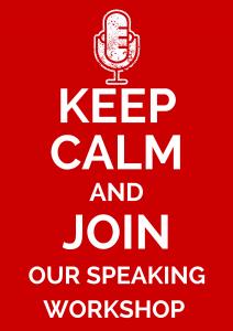 Poster for Independent Speaking Workshop post